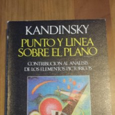 Libros de segunda mano: VASILI KANDINSKI. PUNTO Y LINEA SOBRE EL PLANO. CONTRIBUCIÓN AL ANÁLISIS DE LOS ELEMENTOS PICTÓRICOS. Lote 54892711