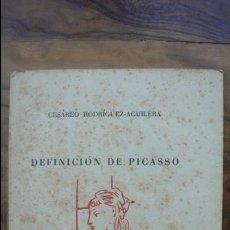 Libros de segunda mano: DEFINICIÓN DE PICASSO. CESÁREO RODRÍGUEZ-AGUILERA.PAPELES DE SON ARMADANS. ED. NUMERADA (4/50) 1960.. Lote 55024313