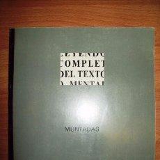 Libros de segunda mano: MUNTADAS, ANTONI. HÍBRIDOS. [EXPOSICIÓN] : CENTRO DE ARTE REINA SOFÍA, 11 DE FEBRERO-31 DE MARZO.... Lote 262320580