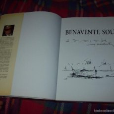 Libros de segunda mano: BENAVENTE SOLÍS.BIOGRAFÍA Y OBRA.FRANCESC GALÍ.DIBUJO Y FIRMA ORIGINAL DEL PINTOR BENAVENTE SOLÍS.. Lote 56986005