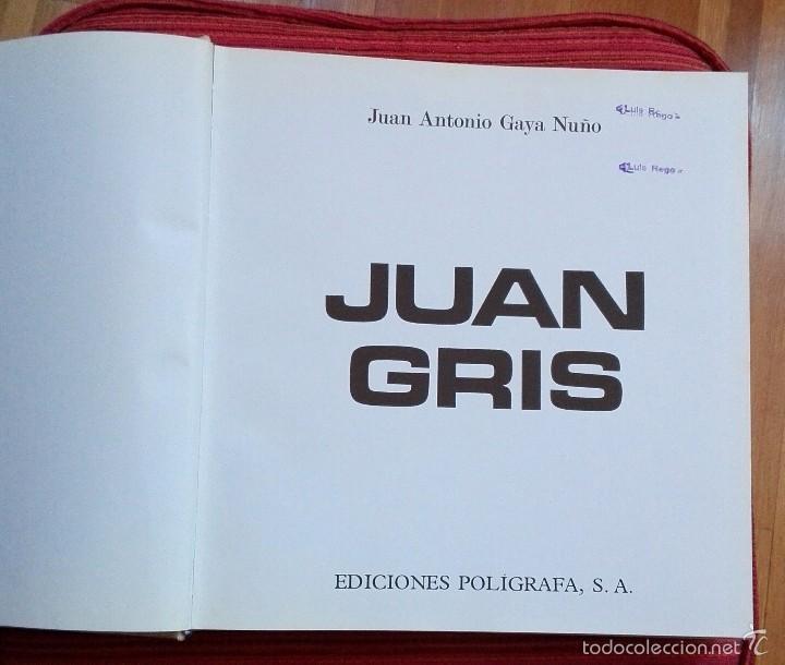 Libros de segunda mano: Juan Gris. GAYA NUÑO, Juan Antonio. - Foto 2 - 57265573