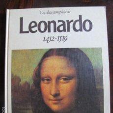 Libros de segunda mano: LIBRO LA OBRA COMPLETA LEONARDO MAESTROS DE LA PINTURA. Lote 58518377