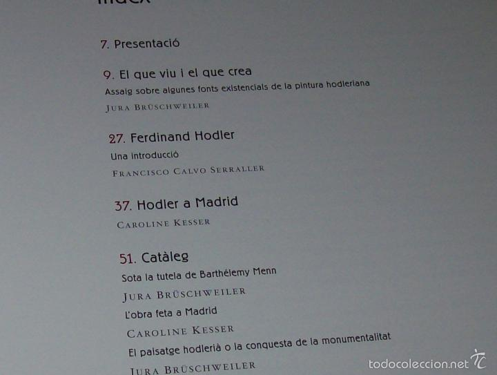 Libros de segunda mano: FERDINAND HODLER. FUNDACIÓ LA CAIXA. 2001. EXCEL·LENT EXEMPLAR. ÚNIC EN TC!!!!!!!!!!!!!! - Foto 5 - 58545553