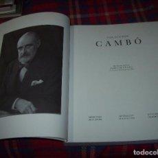 Libros de segunda mano: COLECCIÓN CAMBÓ. MUSEO DEL PRADO. MUSEU D'ART DE CATALUNYA.AYUNTAMIENTO DE BARCELONA. 1990. UNA JOYA. Lote 61640732