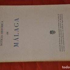 Libros de segunda mano: HOMENAJE DE MÁLAGA A PICASSO , NOTICIA HISTÓRICA DE MÁLAGA , CAFFARENA , 1981. Lote 61754060