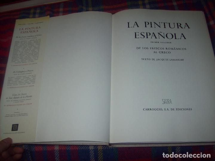 Libros de segunda mano: LA PINTURA ESPAÑOLA.3 VOLÚMENES. SKIRA. CARROGGIO EDICIONES.1963. GRECO, RIBALTA, PICASSO,GOYA... - Foto 3 - 141436554