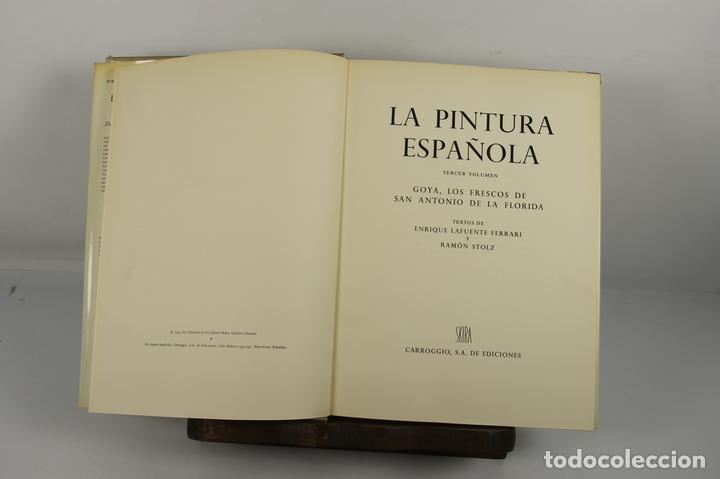 4923- LA PINTURA ESPAÑOLA. JACQUES LASSAIGNE. EDIT. CARROGGIO. 1952/55. 3 VOL. (Libros de Segunda Mano - Bellas artes, ocio y coleccionismo - Pintura)