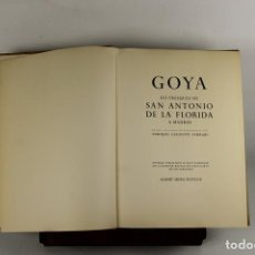 Libros de segunda mano: 5215. GOYA. LES FRESQUES DE SANANTONIO DE LA FLORIDA. EDIT. SKIRA. 1955.. Lote 45311670