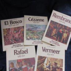Libros de segunda mano: LOTE DE 5 LIBROS LA OBRA COMPLETA DE REMBRANDT CEZANNE EL BOSCO VERMEER RAFAEL MAESTROS DE LA PINTUR. Lote 65925038