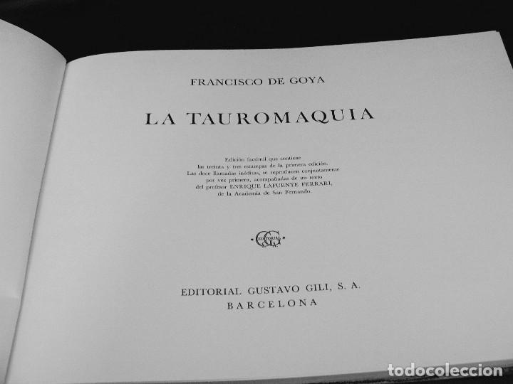 Libros de segunda mano: LA TAUROMAQUIA DE GOYA GUSTAVO GILI 1981 FACSÍMIL TEXTO DE E.LAFUENTE - Foto 2 - 66750342