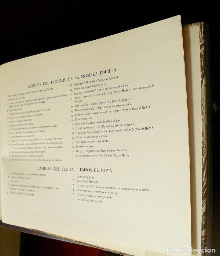 Libros de segunda mano: LA TAUROMAQUIA DE GOYA GUSTAVO GILI 1981 FACSÍMIL TEXTO DE E.LAFUENTE - Foto 5 - 66750342
