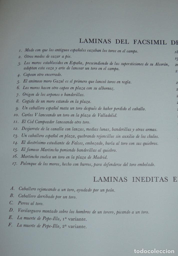 Libros de segunda mano: LA TAUROMAQUIA DE GOYA GUSTAVO GILI 1981 FACSÍMIL TEXTO DE E.LAFUENTE - Foto 6 - 66750342