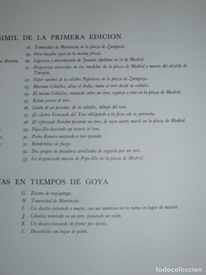Libros de segunda mano: LA TAUROMAQUIA DE GOYA GUSTAVO GILI 1981 FACSÍMIL TEXTO DE E.LAFUENTE - Foto 7 - 66750342