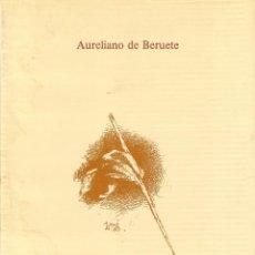 Libros de segunda mano: VELAZQUEZ. AURELIANO DE BERUETE. CEPSA 1991.. Lote 67427245