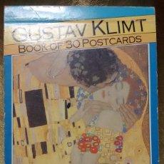 Libros de segunda mano: GUSTAV KLIMT - BOOK OF 30 POSTCARDS. Lote 67462225