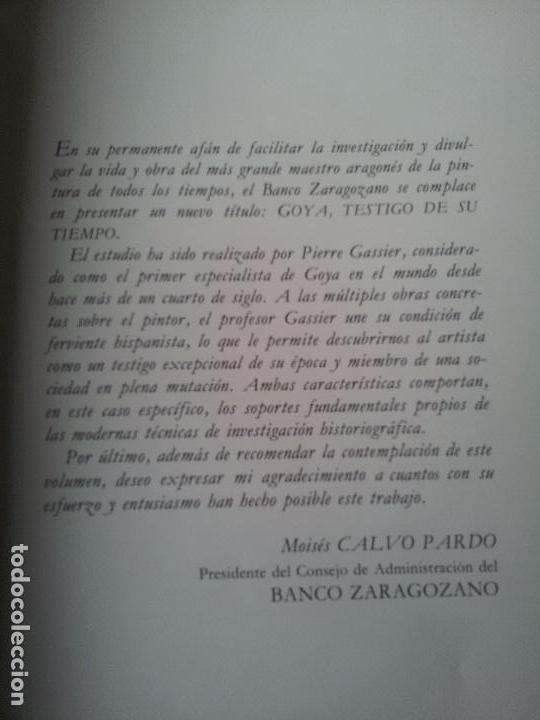 Libros de segunda mano: GOYA,TESTIGO DE SU TIEMPO,PIERRE GASSIER - Foto 2 - 67950965