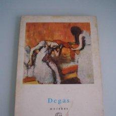 Libros de segunda mano: COLECCIÓN MINIA - Nº 17 DEGAS - MUJERES - EDITORIAL GUSTAVO GILI, BARCELONA 1958. Lote 67941565