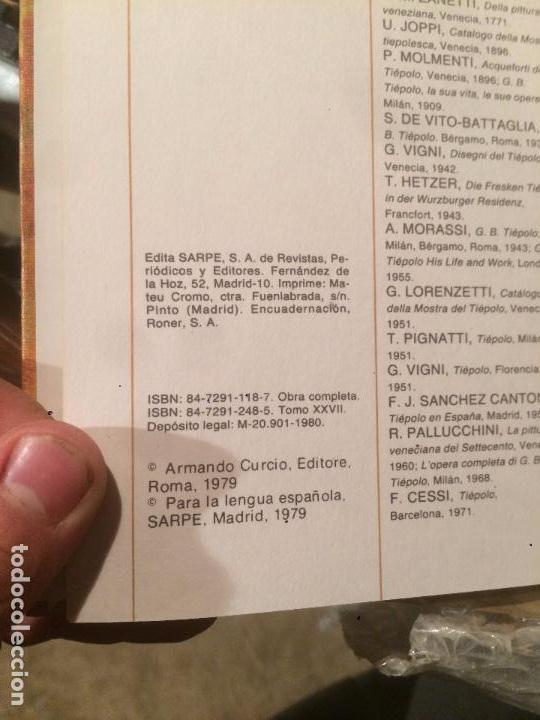 Libros de segunda mano: Antigua coleccion de 29 libro / libros los genios de la pintura Biblioteca Sarpe año 1979 - Foto 12 - 68345237