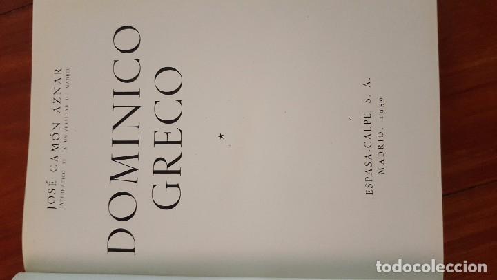 Libros de segunda mano: DOMINICO GRECO. TOMO I. JOSÉ CAMÓN AZNAR. 1950. - Foto 3 - 72706427