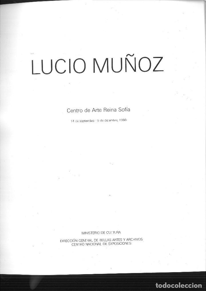 Libros de segunda mano: LUCIO MUÑOZ. Ministerio de Cultura - Foto 2 - 75016151