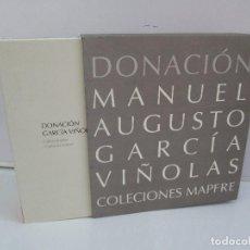Libros de segunda mano: DONACION. MANUEL AUGUSTO GARCIA VIÑOLAS. DICHO Y HECHO. DOS LIBROS. FUNDACION MAPRE. Lote 75567707