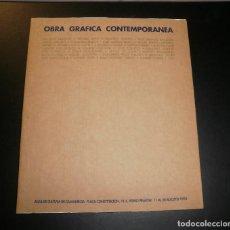 Libros de segunda mano: LIBRO. CATÁLOGO OBRA GRÁFICA CONTEMPORÁNEA. CAJA MURCIA, 1993, SAN PEDRO DEL PINATAR. Lote 83769036