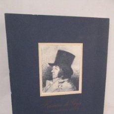 Libros de segunda mano: FRANCISCO DE GOYA EN LA CALCOGRAFIA NACIONAL. REAL ACADEMIA DE BELLAS ARTES DE SAN FERNANDO BMW.. Lote 84490888