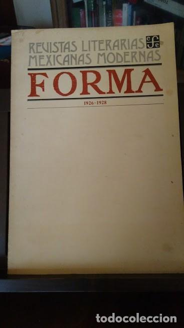 FORMA, REVISTA DE ARTES PLASTICAS, FACSIMIL, MEXICO. VANGUARDIAS (Libros de Segunda Mano - Bellas artes, ocio y coleccionismo - Pintura)