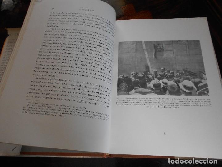 Libros de segunda mano: EL GRECO Y TOLEDO. GREGORIO MARAÑON. ESPASA-CALPE, MADRID 1956. TAPA DURA EN TELA CON SOBRECUBIERTA. - Foto 7 - 88097276