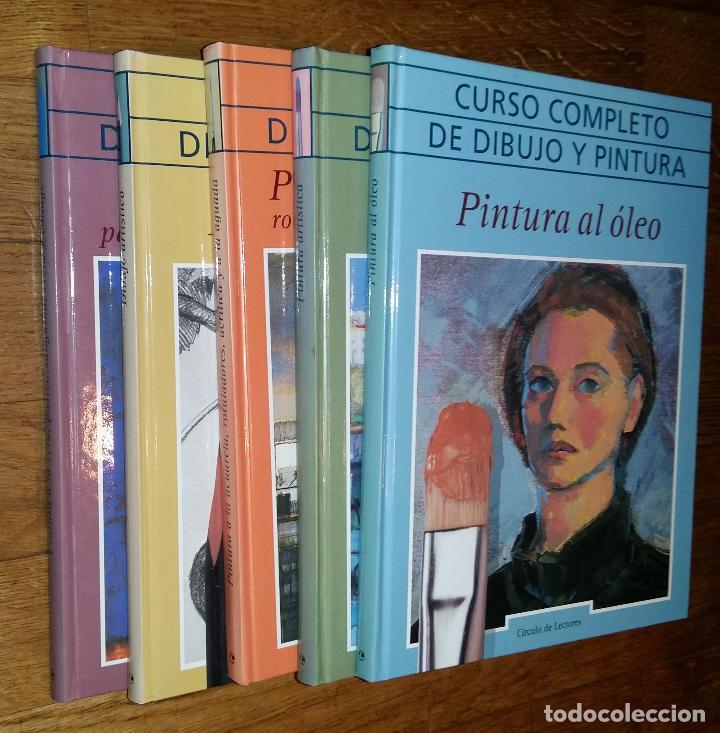 CURSO COMPLETO DE DIBUJO Y PINTURA EN 5 TOMOS / (Libros de Segunda Mano - Bellas artes, ocio y coleccionismo - Pintura)