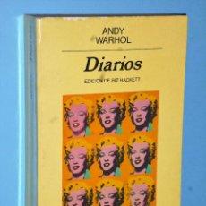 Libros de segunda mano: ANDY WARHOL. DIARIOS. Lote 90836955