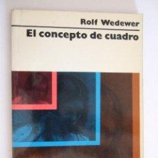 Libros de segunda mano: EL CONCEPTO DE CUADRO - ROLF WEDEWER - EDITORIAL LABOR 1973 - RUSTICA 154 PAGINAS. Lote 209096930