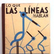 Libros de segunda mano: LO QUE LAS LINEAS HABLAN METODO DE DIBUJO ROBERTO LAMBRY 1935. Lote 91829860