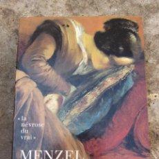 Libros de segunda mano: MENZEL CATALOGO EXPOSICIÓN. Lote 97070259