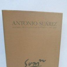 Libros de segunda mano: ANTONIO SUAREZ. AVATARES DE UN LENGUAJE PICTORICO 1957-1994. AYUNTAMIENTO DE MADRID 1995. Lote 97096671