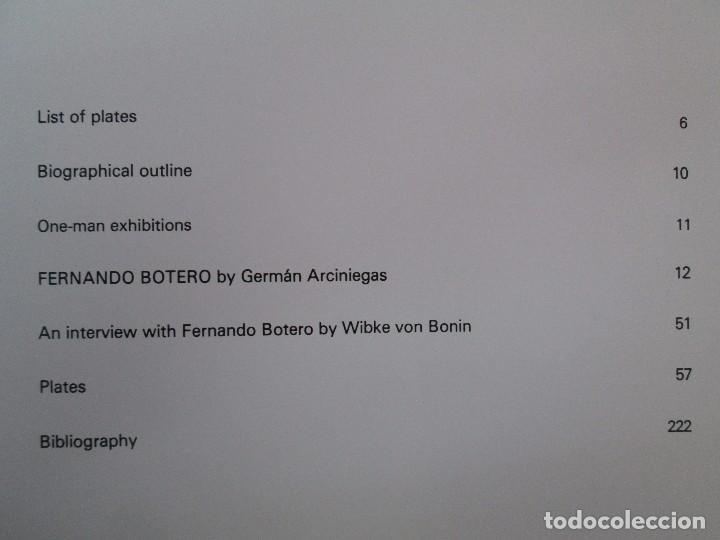 Libros de segunda mano: FERNANDO BOTERO. GERMAN ARCINIEGAS. EDITORIAL EDILERNER. 1977. VER FOTOGRAFIAS ADJUNTAS - Foto 10 - 99174707