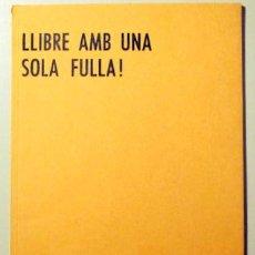 Libros de segunda mano: ÈCZEMA 09 - LLIBRE AMB UNA SOLA FULLA - FEBRER 1980. Lote 99327763
