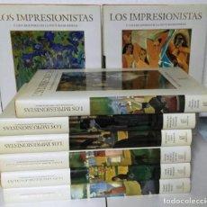 Libros de segunda mano: LOS IMPRESIONISTAS Y LOS CREADORES DE LA PINTURA MODERNA, CARROGGIO, 1999-2000, 8 TOMOS. COMPLETA.. Lote 99455339