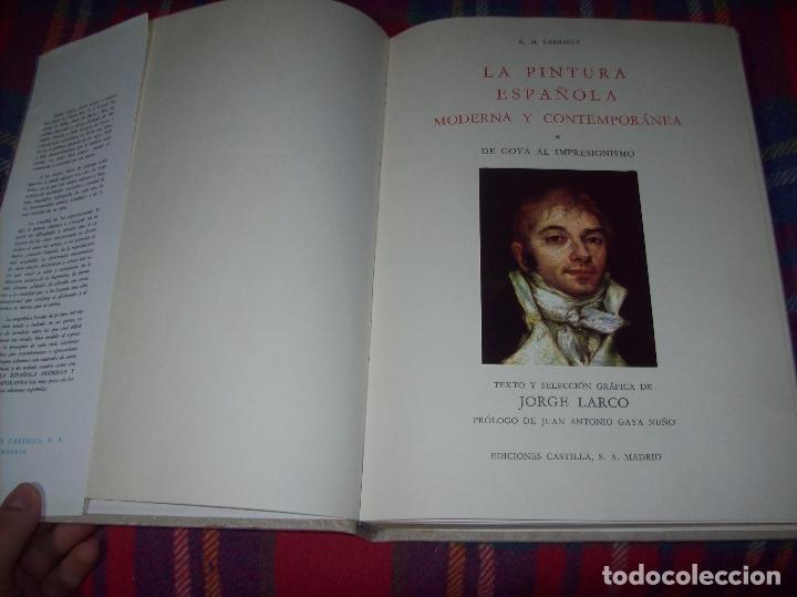 Libros de segunda mano: LA PINTURA ESPAÑOLA MODERNA Y CONTEMPORANEA. 3 TOMOS. JORGE LARCO. ED. CASTILLA. 1964. UNA JOYA!!!! - Foto 3 - 100104991