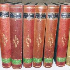 Libros de segunda mano: GALERIAS DE EUROPA. 7 TOMOS. EDITORIAL LABOR. Lote 101107908