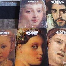 Libros de segunda mano: LOTE 5 LIBROS DE MAESTROS DE LA PINTURA. VERONES, RUBENS, INGRES, GIOTTO Y EL GRECO. Lote 102340079