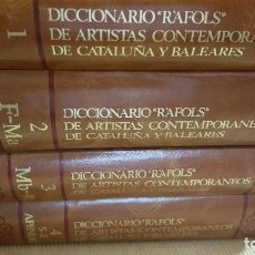 Libros de segunda mano: DICCIONARIO RAFOLS DE ARTISTAS CONTEMPORANEOS DE CATALUÑA Y BALEARES.4 TOMOS.COMO NUEVOS.. Lote 222177191