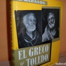 Libros de segunda mano: EL GRECO Y TOLEDO / G.MARAÑON. Lote 102712647