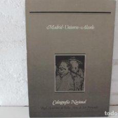 Libros de segunda mano: MADRID. UNIVERSO. ALCORLO. CALCOGRAFÍA NACIONAL REAL ACADEMIA DE BELLAS ARTES DE SAN FERNANDO 1986. Lote 103588643