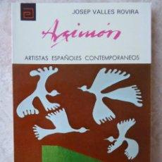 Libros de segunda mano: DANIEL ARGIMÓN - ARTISTAS ESPAÑOLES CONTEMPORÁNEOS Nº 114 - J. VALLÉS ROVIRA. Lote 103799519