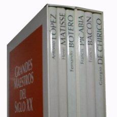 Libros de segunda mano: GRANDES MAESTROS DEL SIGLO XX. ANTONIO LÓPEZ. FERNANDO BOTERO. HENRI MATISSE. FRANCIS PICABIA..... Lote 104601187