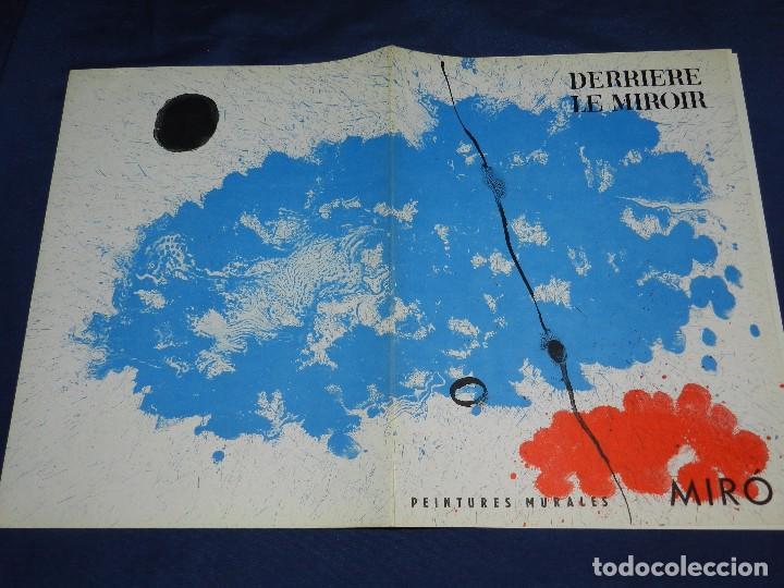 (M) DERRIERE LE MIROIR - PEINTURES MURALES JOAN MIRO 1961 MAEGHT EDITEUR NUM 128 (Libros de Segunda Mano - Bellas artes, ocio y coleccionismo - Pintura)