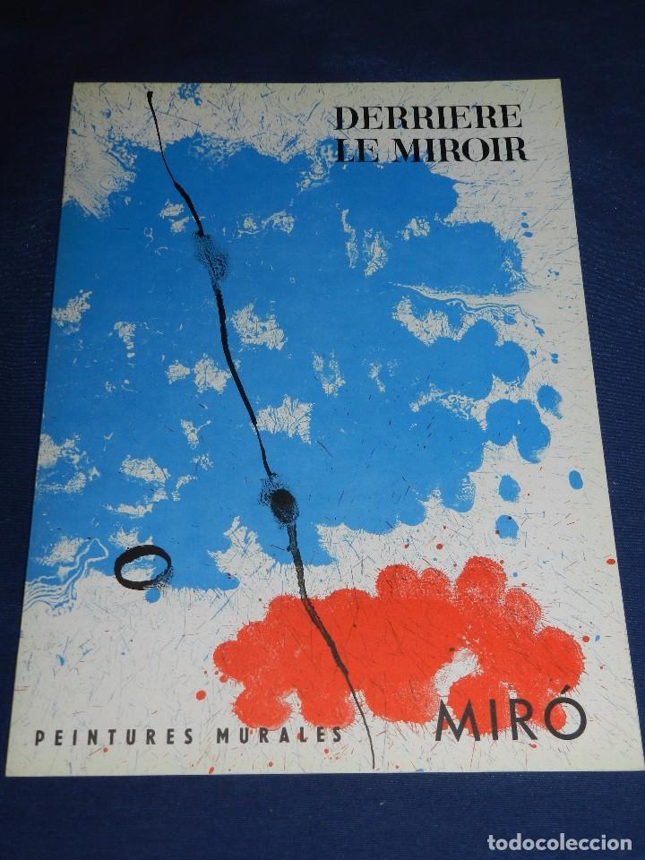 Libros de segunda mano: (M) DERRIERE LE MIROIR - PEINTURES MURALES JOAN MIRO 1961 MAEGHT EDITEUR NUM 128 - Foto 2 - 104618675