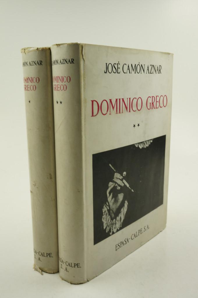DOMINICO GRECO, JOSÉ CAMÓN AZNAR, 1950, ESPASA-CALPE, MADRID. 21X28CM (Libros de Segunda Mano - Bellas artes, ocio y coleccionismo - Pintura)