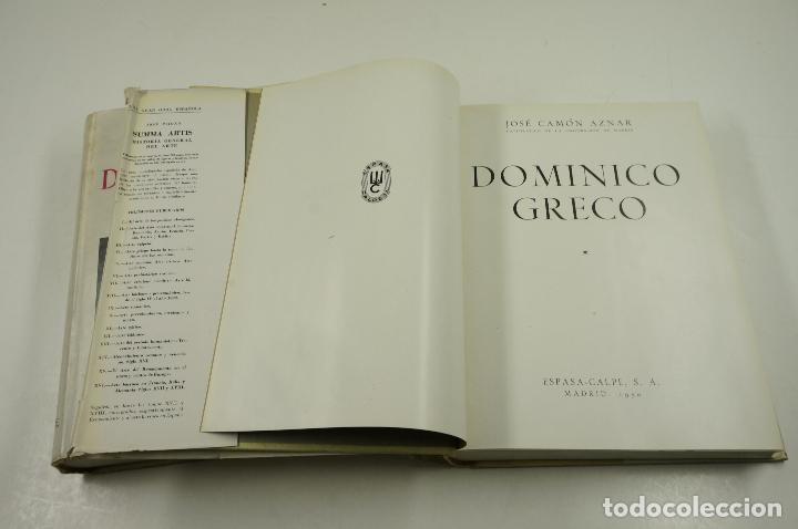 Libros de segunda mano: Dominico Greco, José Camón Aznar, 1950, Espasa-Calpe, Madrid. 21x28cm - Foto 3 - 105802079
